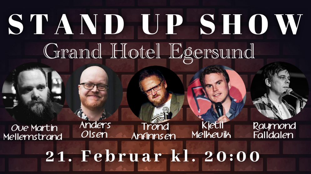 the comedy box 21 februar 2020 grand hotell egersund